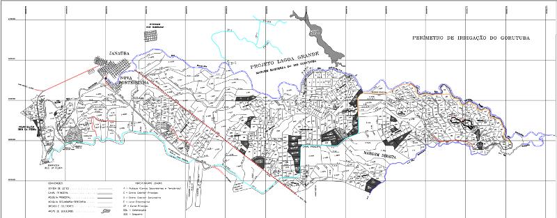 Mapa Perímetro Irrigação Gorutuba